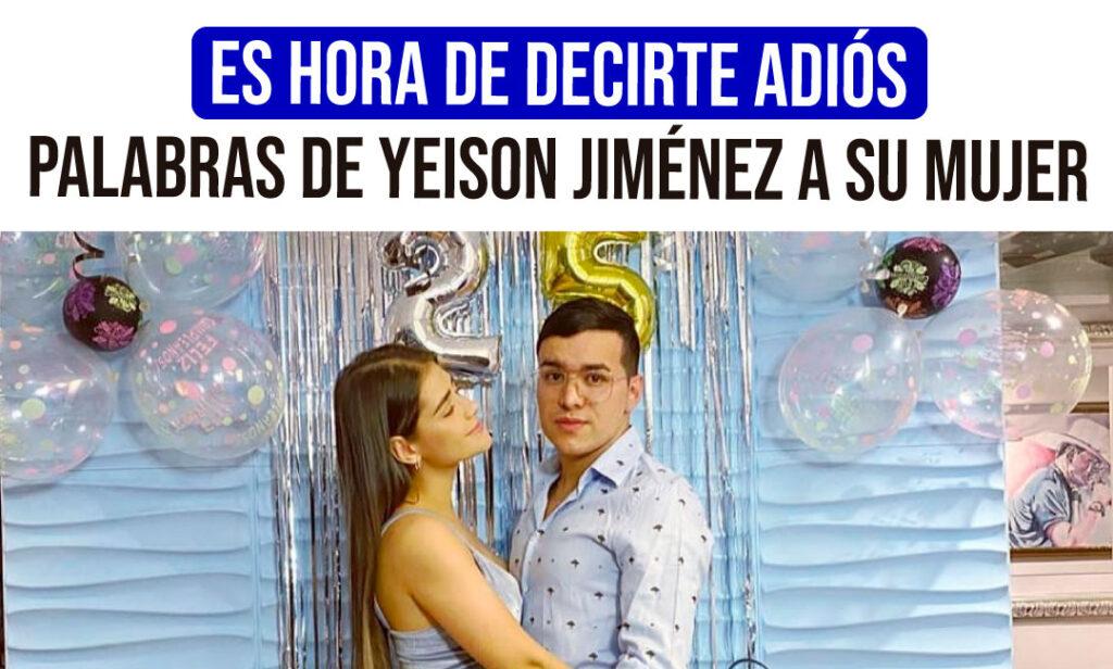 Yeison Jiménez se separa